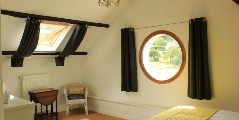 Master bedroom with beautiful views over looking the river rance