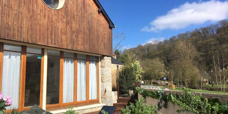 Views of the river rance from the patio - copie 2