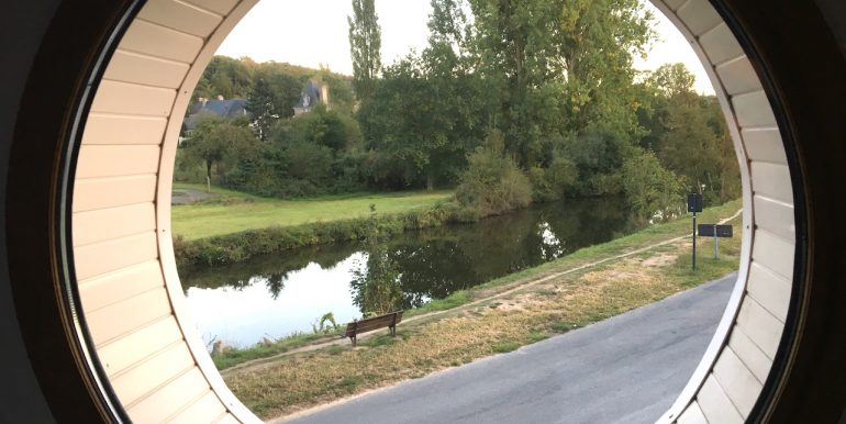 View of the river rance from the port hole in the master bedroom