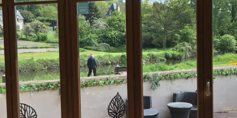 Wonderful view of the river rance from the sitting room