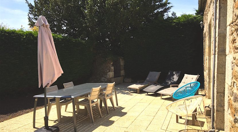 Seclded very south facing sun terrace ideal for relaxing!